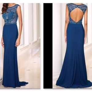 SEAN COLLECTION  Navy Blue Midnight dress Size 0